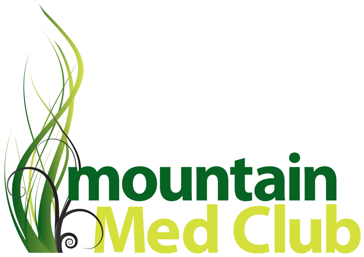 Logo design and brand development for Mountain Med Club Dispensary.