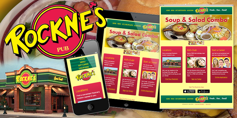 Website Design | Search Engine Optimization | Website Maintenance | Social Media Strategy - Rockne's Restaurant