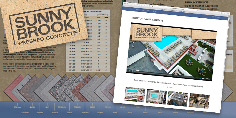 Brochures | Branding | Web Design | Search Engine Optimization | Photography - Sunny Brook Pressed Concrete