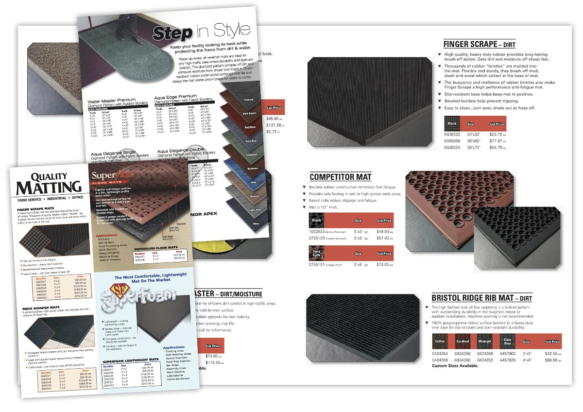 Product Catalog layout and design.