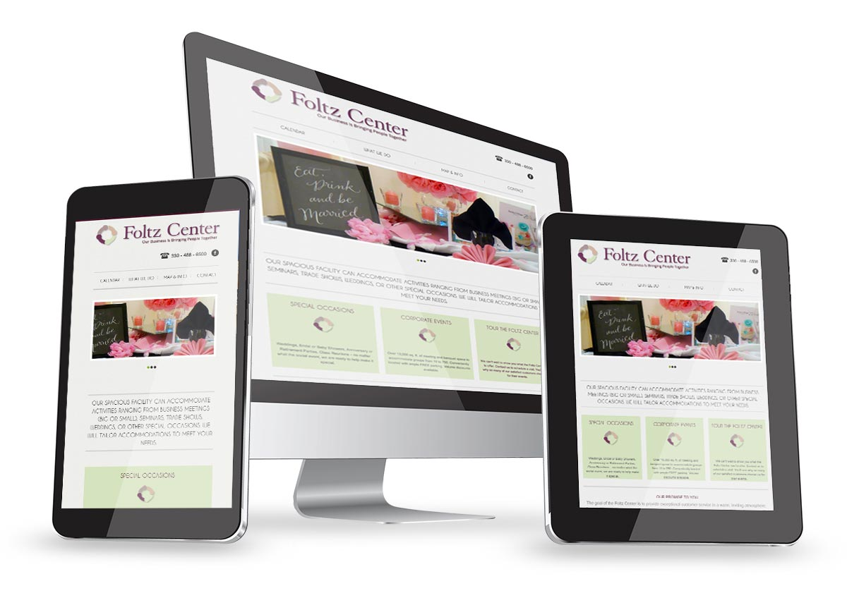 Website design and brand development for The Foltz Community Center.